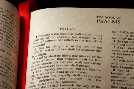 Chapter 1 of the Book of Psalms in the Old Testament of the Holy Bible photo