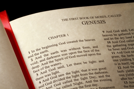 Chapter 1 of the Book of Genesis in the Old Testament of the Holy Bible photo