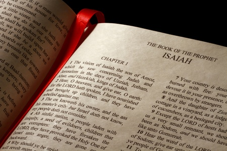 Chapter 1 of the Book of Isaiah in the Old Testament of the Holy Bible