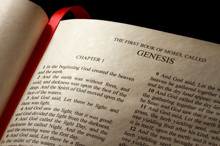 old testament: Chapter 1 of the Book of Genesis in the Old Testament of the Holy Bible