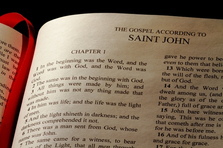 Chapter 1 of the Gospel of John in the New Testament of the Holy Bible photo