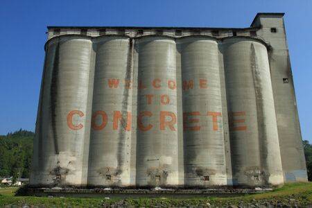 Welcome sign in the Town of Concrete, Washington, U.S.A.