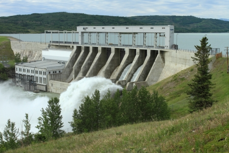 The Ghost Hydroelectric Dam, Alberta, Canada Editorial
