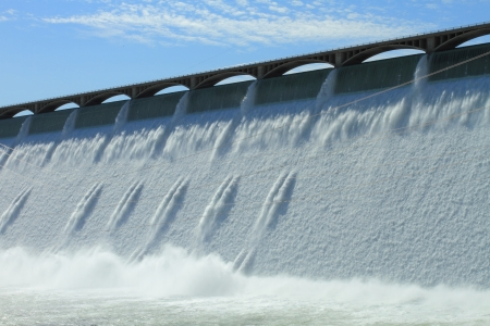The Grand Coulee Hydroelectric Dam in Washington, U.S.A.