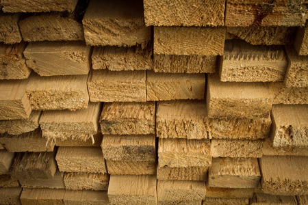 2x4: Pile of stacked rough cut lumber at a sawmill