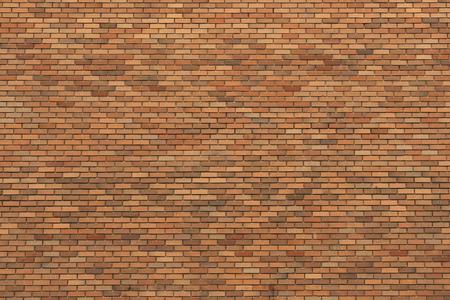 Large wall of smooth orange color bricks