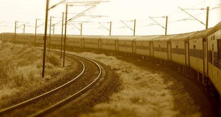 Indian train isolated transportation object stock photograph Stock Photo - 97130412