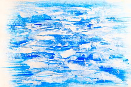 blue and white horizontal beautiful painted texture background Stock Photo