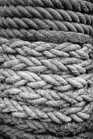 black and white marine rope texture background