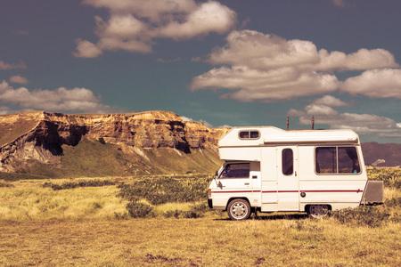 campervan: campervan travelling, location - Wellington, North Island, New Zealand Editorial