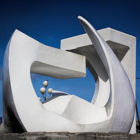 modern fountain sculpture - destination Wellington, North Island, New Zealand