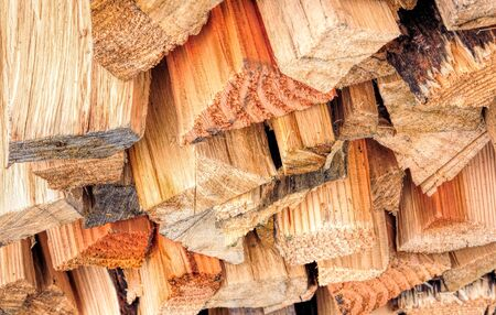 chopped firewood stack photo