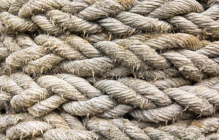 colored old vintage marine rope texture background
