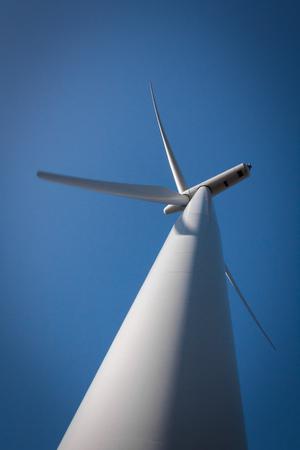 wind turbine alternative energy Location: New Zealand, capital city Wellington, North Island. Stock Photo