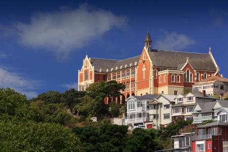 Old Church landmark. Location: Mt Victoria, New Zealand, capital city Wellington, North Island Stock Photo