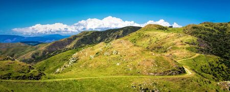 Location: New Zealand, capital city Wellington. View from the SkyLine track and Mount KayKay, farm landscape