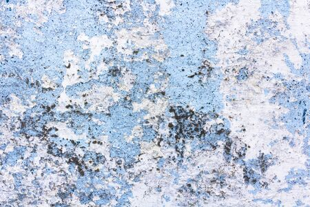 painted blue cement concrete wall background texture Stock Photo