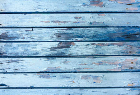 blue painted wooden vinage texture with horisontal planks