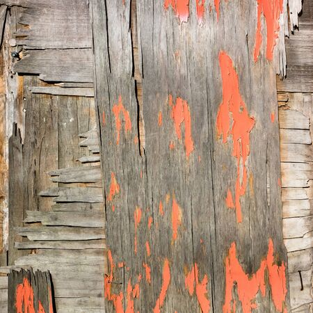 vintage old painted wall gray wooden texture with horisontal lines