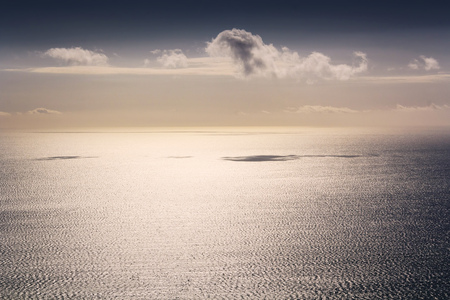 calm sea landscape , location - Wellington, Kapiti Island, North Island, New Zealand Stock Photo