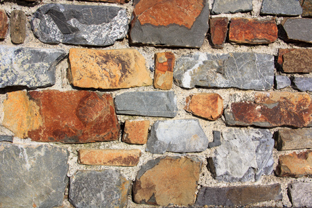 cracked old rocks wall background industrial texture photo Stock Photo