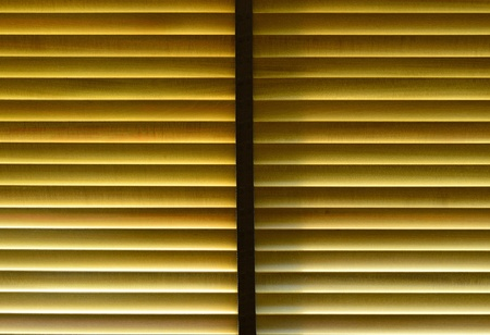 penetrate: The light penetrate wooden curtain then make a nice pattern