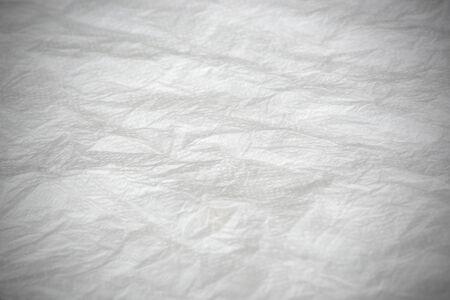 foe: Crumpled white tissue paper foe background texture Stock Photo