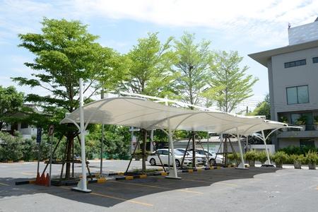 The empty modern design car parking lot photo