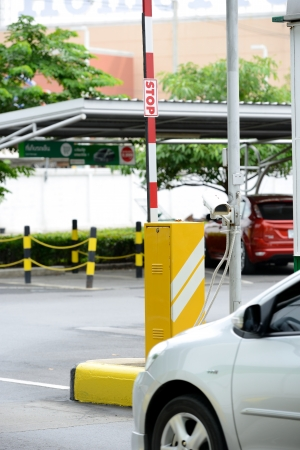 Automatic vehicle Security Barriers with security camera photo
