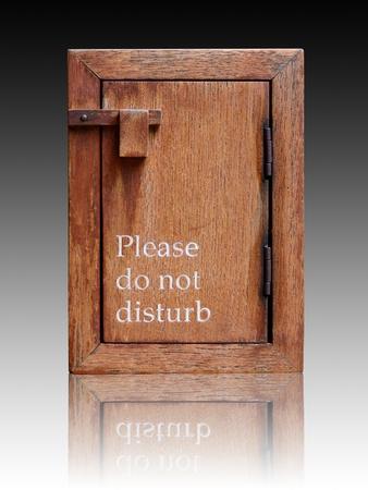Please do not disturb wooden sign box  photo