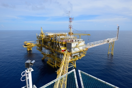 The offshore oil rig drilling platform