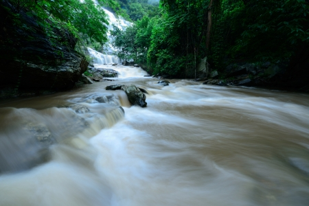 Mae Ya waterfall is biggest waterfall in Chiang Mai,Thailand photo