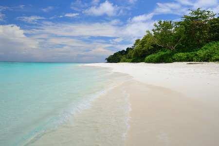 clear water: beautiful white sand beach and clear water in summer