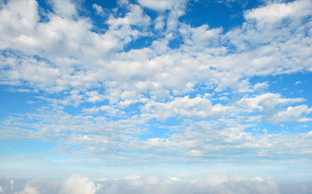 Sky clouds taked from aircraft Standard-Bild