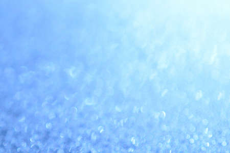 Abstract bright blue Background bokeh effect