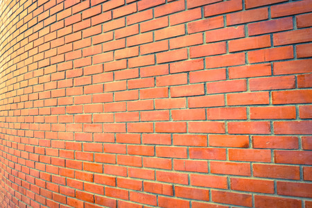 curve brown brick wall perspective for a background