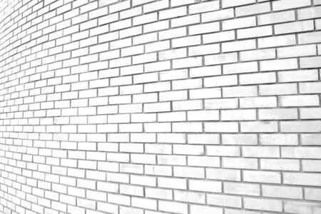 White grunge curve brick wall background