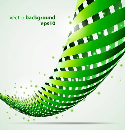 3d abstract spiral background Vectores