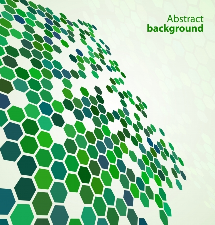 Green abstract digital background Stock Vector - 12918055