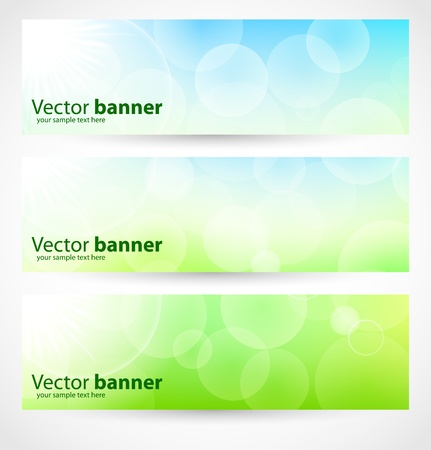 Banners and headers abstract lights Vector
