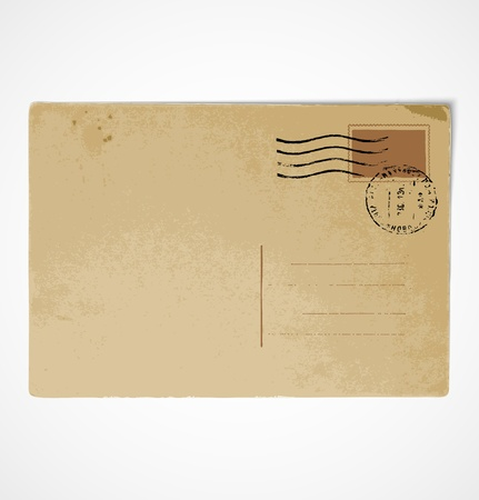 Old vintage postcard back Stock Vector - 12979312