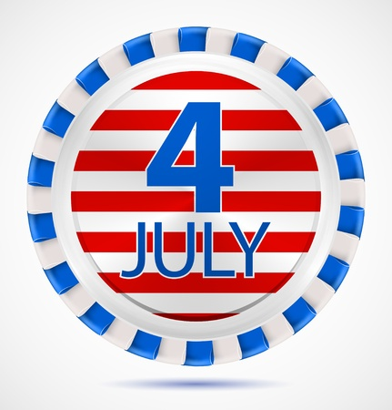 4th July label Vector
