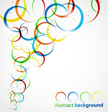 Abstract circle background Vectores