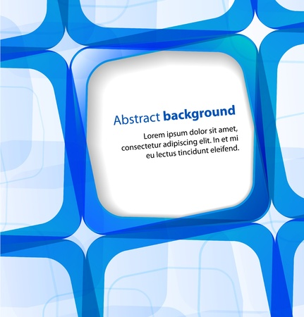 visual presentations: Blue square and frame background