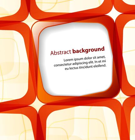 visual presentations: Red square and frame background