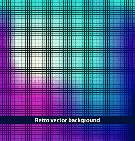 pixelated: Vector mosaic background