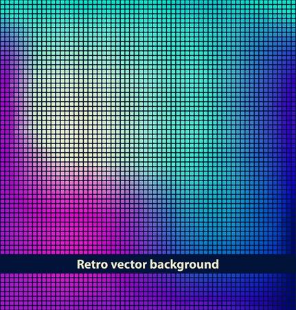 nightlife: Vector mosaic background