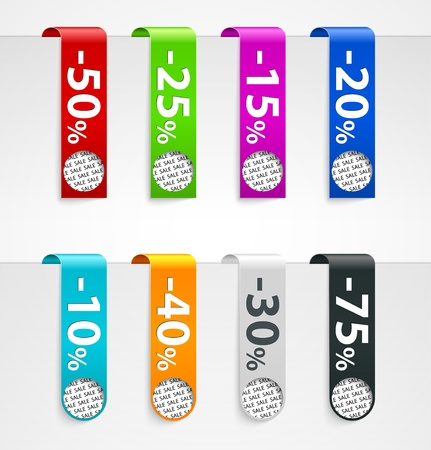 Sale paper tags  Vector announcements Stock Vector - 13331378