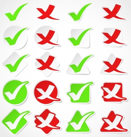 Vector check mark stickers Vector