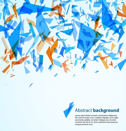 broken glass: Abstract background Illustration